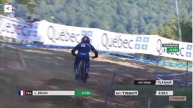 Quasi 72 kms/h pour Loïc Bruni lors de son 4ème sacre à Mont-Saint-Anne !